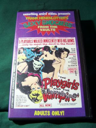 Playgirls And The Vampires Vhs Something Weird Video Cult Rare Trash 1960