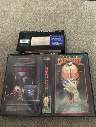 Satan's Blade Vhs/ Very Rare & Palace Explosive Horror Video