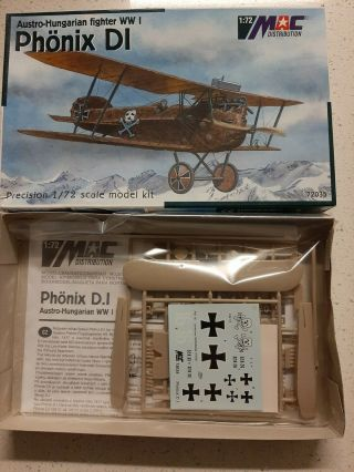 1/72 Mac Distribution Phonix D.  I Austro - Hungarian Wwi Fighter,  Rare,  Oop