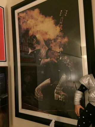 Kiss 1977 Alive Ii Poster Ace Frehley Smokin Les Paul Rare