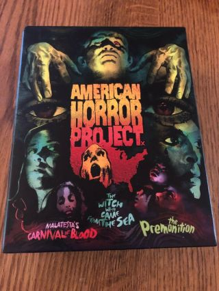 American Horror Project (blu - Ray/dvd,  2018,  6 - Disc) Volume 1 Rare Oop Horror