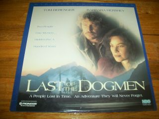 Last Of The Dogmen Laserdisc Ld Widescreen Format Rare