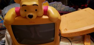 Disney Winnie Thepooh Tv And Disney Winnie The Pooh Dvd Player With Remotes Rare