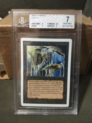 1993 Magic The Gathering Mtg Unlimited Lich R K Bgs 7 (pwcc)