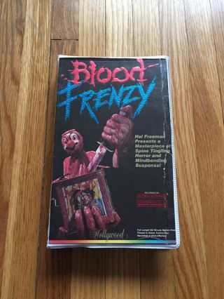 Blood Frenzy (1987) Hollywood Home Video Vhs Horror Slasher Cult Extremely Rare