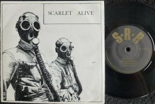Rare Indie / Goth Scarlet Alive On Earth & In Heaven 1983 S.  R.  R Private Uk 45 Ex