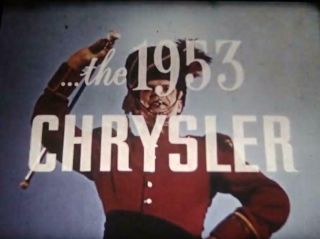 16mm Film - Chrysler For 1953 - Lost Ib Tech Plymouth Promotional - - Rare