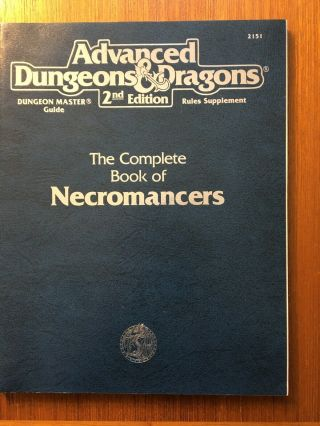 Complete Book Of Necromancers Ad&d Tsr 2151 Dungeons & Dragons Rare
