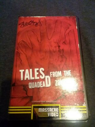 Tales From The Quadead Zone Rare Chester Turner Big Box Vhs Signed Massacre Vid