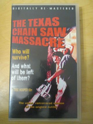 Vhs The Texas Chainsaw Massacre (1974) Rare Finnish Pal Release - Tobe Hooper