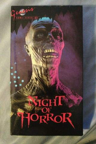 Night Of Horror - Vhs 1981,  Rare Genesis Home Video Label,  Horror
