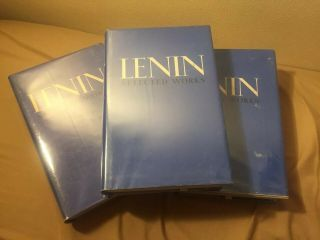 Very Rare Lenin Selected Complete Set Vols 1 - 3 Progress Publishers 1977