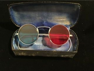 Vintage Rare Bausch & Lomb Stereo 3d Compilation Glasses In Metal Case