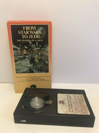 Rare Vintage From Star Wars To Jedi: The Making Of A Saga Doc 1986 Betamax