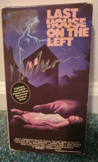 Rare Signed Last House On The Left Wes Craven Vhs Vestron Uncut Horror