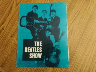 The Beatles Rare August 1963 U.  K.  Tour Program Complete Unmarked Cond
