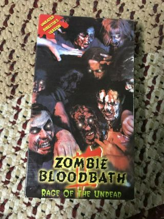 Zombie Blood Bath 2 Rage Of The Undead Big Box Slip Rare Oop Vhs