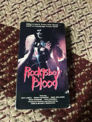 Rocktober Blood Horror Sov Slasher Rare Oop Vhs Big Box Slip