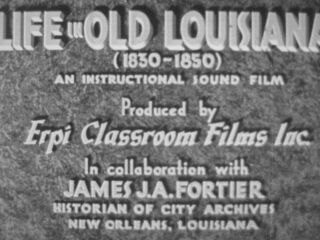 "16mm Film 1940s "" Life In Old Louisiana "" Rare American South Educational Movie"