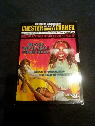 Rare Oop Black Devil Doll From Hell/tales From The Quadead Zone Massacre Video