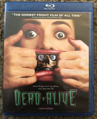 Dead Alive Unrated Blu Ray Very Rare Peter Jackson