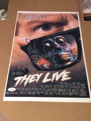 Barry Morse  27X 40  wcoa FUNERAL HOME SIGNED Movie Poster