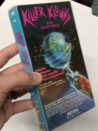 Rare Horror Vhs Killer Klowns From Outer Space.  Media Video