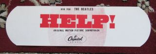 """Beatles Orig Very Rare 1965 """" Help """" Large Promo Band Aid Issued By Capitol"""
