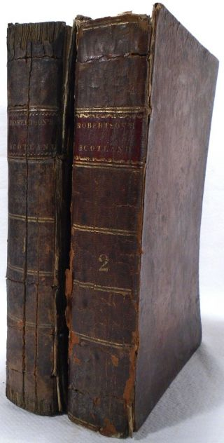 History Of Scotland William Robertson 1811 First Edition 2 Volumes Leather Rare
