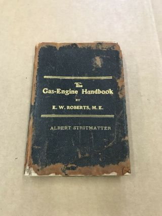 Rare Leather Antique Hit And Miss Gas Engine Hand Book Gas Engine Literature