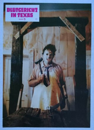 Texas Chainsaw Massacre (1974) Rare German Lc Gunnar Hansen Leatherface