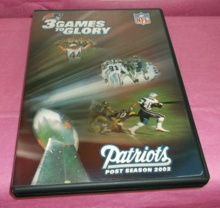 3 Games To Glory (2002) Nfl England Patriots Bowl 36 (rare Oop Dvd)