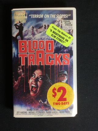 Blood Tracks 1985 Very Rare Clam Shell Horror Slasher Vhs Vista See Store