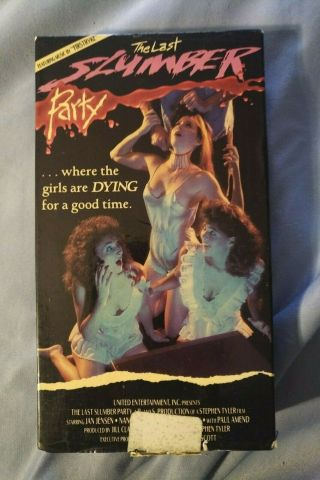 The Last Slumber Party - Vhs 1988,  Rare United Home Video Label,  Horror
