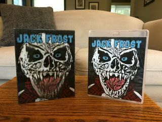 """Rare Like """" Jack Frost """" (1997) Oop Lenticular Cover Vinegar Syndrome Blu - Ray"""