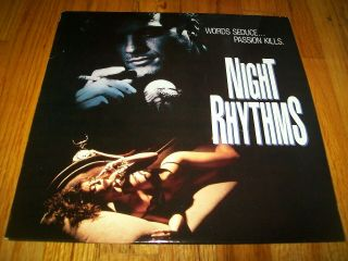 Night Rhythms Laserdisc Ld Unrated A.  Gregory Hippolyte Rare
