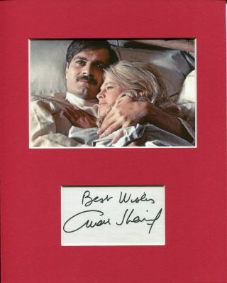 Omar Sharif Doctor Zhivago Rare Signed Autograph Photo Display W/ Julie Christie