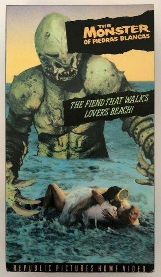 The Monster Of Piedras Blancas Rare & Oop Horror Republic Pictures Vhs