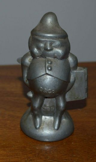 Vintage Rare Antique Schall Pewter Palmer Cox Figure Ice Cream Mould Mold 389