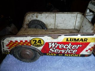 Vintage Tow Truck Tin Toy Big Very Old Very Rare