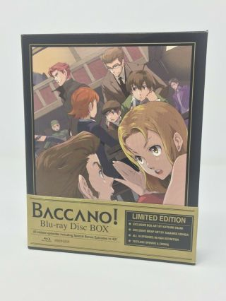 Baccano Limited Edition Blu - Ray Box Set Aniplex Usa Rare Anime