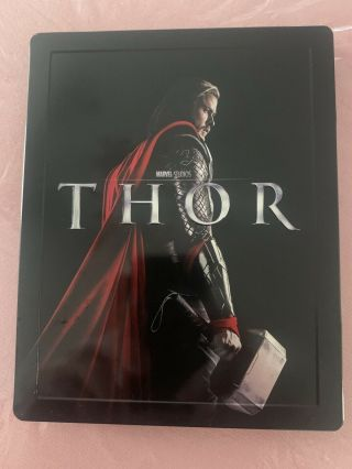 Thor 2d/3d/dvd Combo Blu - Ray Pack Hmv Marvel Uk Exclusive Rare Region One