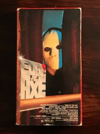 Edge Of The Axe Vhs Rare Horror Gore Backwoods Slasher Forum Home Video 1988 Vg