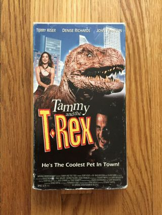 Tammy And The T - Rex (1994) Vhs Video Cult Comedy Horror Rare Paul Walker