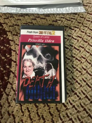 Death Nurse Horror Sov Slasher Rare Oop Vhs Big Box Slip