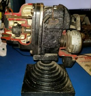Rare Fairbanks Morse Fmj Factory Cutaway Magneto Display Shows Internal Workings