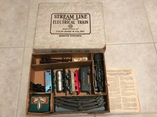 Rare 1958 Marx Freight Train Set 4315 Near Complete Instructions