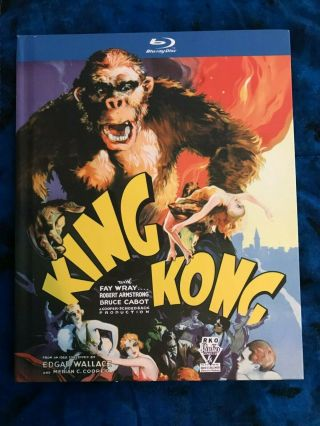 Rare King Kong (1933 Version) Blu - Ray Movie W/ Digi - Book (2010)