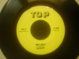 "Scott 7 "" 45rare Obscure Northern Soul Funk My Guy (my Girl) Top R&b Dancer"