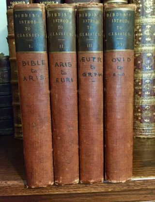 1827 Introduction To Rare & Valuable Greek & Latin Classics - 2v In 4.